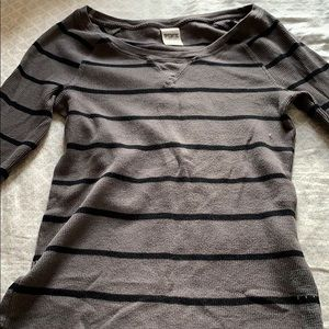 VS pink striped thermal